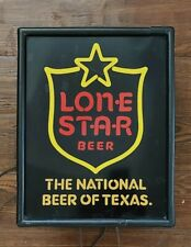 1984 Lone Star Beer Lighted Sign with Shield - 14.5� X 11.5�