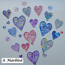 Filigree Hearts Die Cuts for Valentines, Cardmaking - Assorted packs of 25 pcs