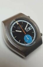 SERVICED Very Rare Vintage blue Seiko 6139-8020 Automatic Chronograph Watch