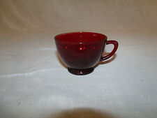 (1) VINTAGE Anchor Hocking ROYAL RUBY RED Glass Punch Bowl Cup or Tea Cup