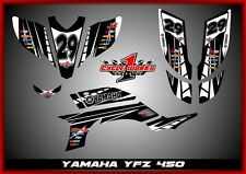 Yamaha YFZ450 03- Carb   SEMI CUSTOM GRAPHICS KIT TUX