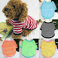 Pet Dog Summer Clothes Stripe Cute T-shirt Small Medium Soft Thin Vest Puppy Cat