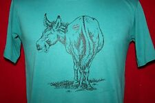 Vintage 80s DONKEY Kiss My Ass 50/50 Thin Soft T-SHIRT M Vtg