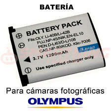 BATERÍA Li40B, Li42B PARA OLYMPUS µ mju 5010; 3.7 V; CAPACIDAD 1200 mAh