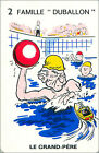 Water polo SPORT PLAYING CARD CARTE À JOUER HUMOR HUMOUR 60s