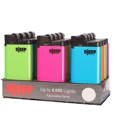 """12 x Djeep """"Hot Body Neon"""" Lighters, Brand New, Same Day Express Shipping"""
