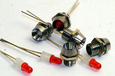 10 Metall LED Fassungen mit ultrahellen 3mm Leds Led Halterungen Montagefassung