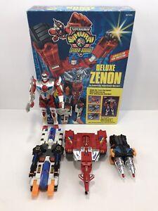 """Playmates Super Human Samurai Syber-squad Deluxe Zenon Complete + 9"""" Servo 1994"""