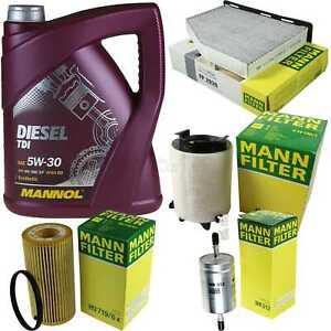 Motor-Öl 5L MANNOL Diesel TDI 5W-30+MANN-FILTER Filterpaket Audi A3 8P1 2.0 FSI