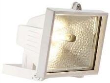 400W Garden Halogen Floodlight-White Outside Security Light + FREE Lamp/Bulb/P&P