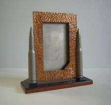 Trench Art Style Bullet Rifle Shell Military Sportsman Hunters Picture Frame