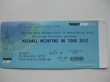 MICHAEL MCINTYRE  GLASGOW  04/11/2012  TICKET