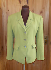 PRECIS lime chartreuse green long sleeve smart suit jacket blazer 12 40 PETITE