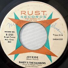 RANDY & THE RAINBOWS Rust 45 LITTLE HOT ROD SUZIE / JOYRIDE DM265