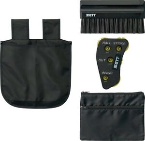 ZETT Japan Umpire Tools 4 Set Brush Pouch Counter Bag Baseball Softball BL2231