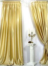 1 Satin Vorhang *goldfarbig*, hochwertiger Satin weich fließend 150 x 260 cm
