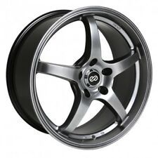 18x8 Enkei VR5 5x110 +40 Hyper Black Rims Fits Chevrolet Pontiac Saturn