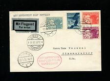 Zeppelin Sieger 54 1930 Bonn Flight Austria Treaty Dispatch on card