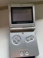 Nintendo Game Boy Advance SP Silber | mit Pokemon Blue Edition