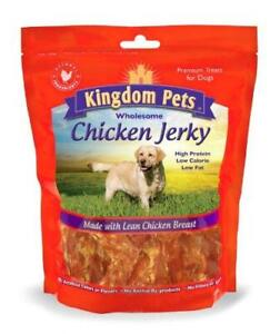 Kingdom Pets Filler Free Chicken Breast Jerky, Premium Treats for Dogs, 48-Ounce
