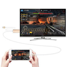 For 8 pin 2M Apple Lightning to HDMI HDTV AV Cable Adapter iPhone 6 6S 5S 5 UK