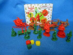 LOD Santa's Christmas Delivery (60MM) Santa, Elves, Reindeer W/ Sleigh 25 pieces