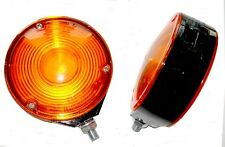 PAIR HELLA LOLLIPOP LOLLYPOP EARRING AMBER/ORANGE MIRROR LAMP/LIGHT SCANIA