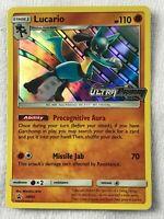 Lucario Prerelease SM95 HOLO Rare SM Ultra Prism NM Pokemon Holographic Foil