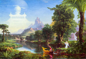 Thomas Cole - The Ages of Life, Youth 1842, Art Poster, Museum Canvas Print