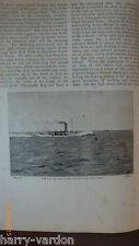 American US Navy Naval Ram Steam Ship Katahdin Antique Victorian 1898 Article