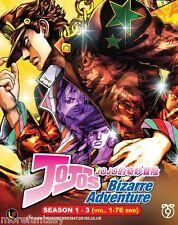 DVD JoJo's Bizarre Adventure Box Set Complete Tv Season 1 + 2 + 3 ( 1-76 end )