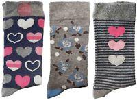 3 Pairs of Ladies JA2 Patterned Cotton Socks by Jennifer Anderton , UK Size 4-8