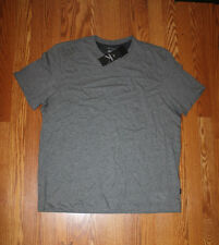NWT Mens CALVIN KLEIN Crew Neck Medium Gray Heather S/S Cotton Shirt Sz M Medium