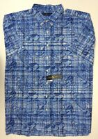 NWT $89 Polo Ralph Lauren Blue Paisley Shirt Men L XL Short Sleeve NEW Cotton