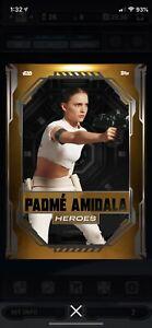 Topps Star Wars Card Trader DIGITAL Heroes S1 Weekly Orange Padme Amidala