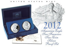 2012 American Eagle San Francisco 2 Coin Silver Proof Reverse Set