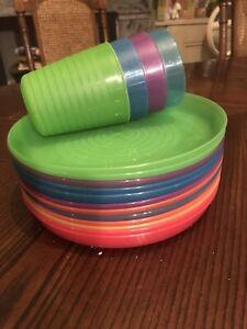 Ikea Plastic Kalas Plates X10 Plus 4 Cups