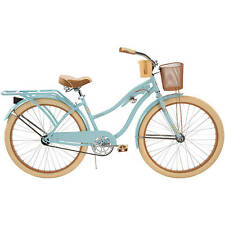 "NEW 26"" Huffy Nel Lusso vintage Women's Cruiser Bike Gloss Blue Beach Bicycle"