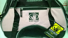 Pink Black Pet Carrier Dog/Cat Travel Bag Body Glove Kennel Hand Carry Small