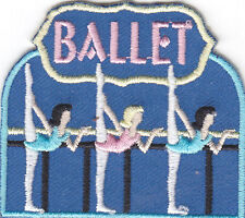 """""""Ballet"""" Patch w/Dancers - Iron On Embroidered Patch/Ballerina, Dance, Slippers"""