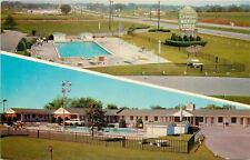 Springfield Missouri~Fenced-In Swimming Pool~Colonial Motor Hotel~Postcard