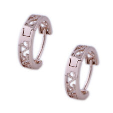 Baby kids Womens Rose Gold Plated Huggie small Lace Hoop Earrings Fashion Lot