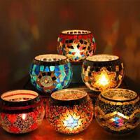 Candle Holder Mosaic Glass Yankee Romantic Holders Tealight Tile Vases Lights