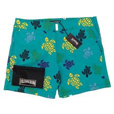 Vilebrequin Mens Swim Shorts - Merise Fitted Flocked Turtles