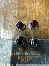 HARLEY-DAVIDSON 4 RED DOT ROCKER SHAFT NUTS SHOVEL OR IRONHEAD SPORTY  BOX 6