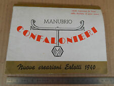 DEPLIANT CONFALONIERI ERLOTTI MANUBRIO BICICLETTE '40 BICI EPOCA BIANCHI MAINO