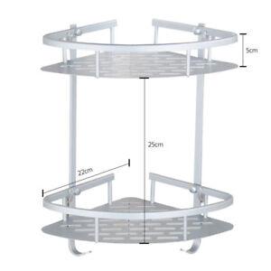 Non Rust Bathroom Shower Shelf Storage Suction Basket Stainless Steel Tidy Caddy