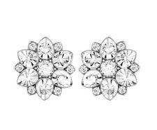 Swarovski Celestial Pierced Earrings Flowers Crystal Authentic MIB 5112144