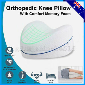 Knee Leg Pillow Bed Memory Foam Cushion Support Back Pressure Relief Pain Sleep