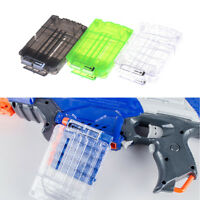 6 Darts Bullets Magazine Clip System for N-strike Elite Toy Gun ClearEO